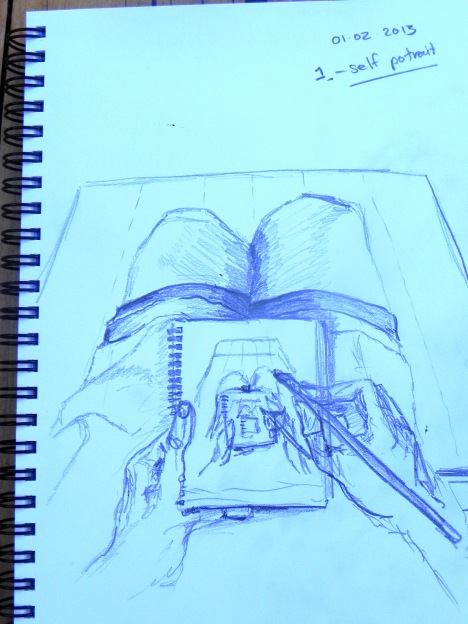A sketch of me sketching me, sketching me.....