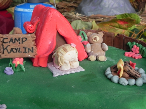 Camp Kaylin - Camping themed Cake