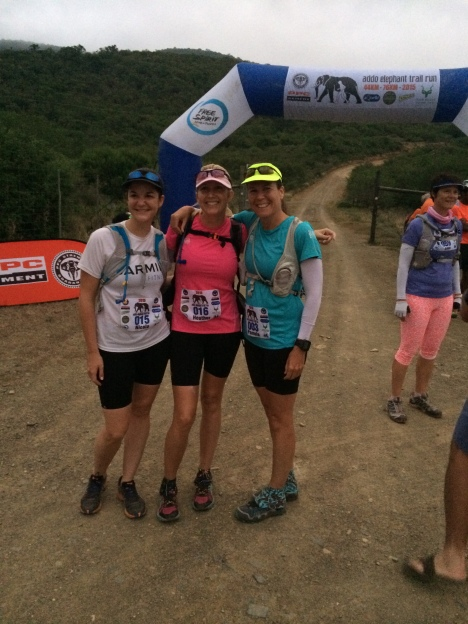 Addo Elephant Trail Run - The Start (do we look a little nervous....)